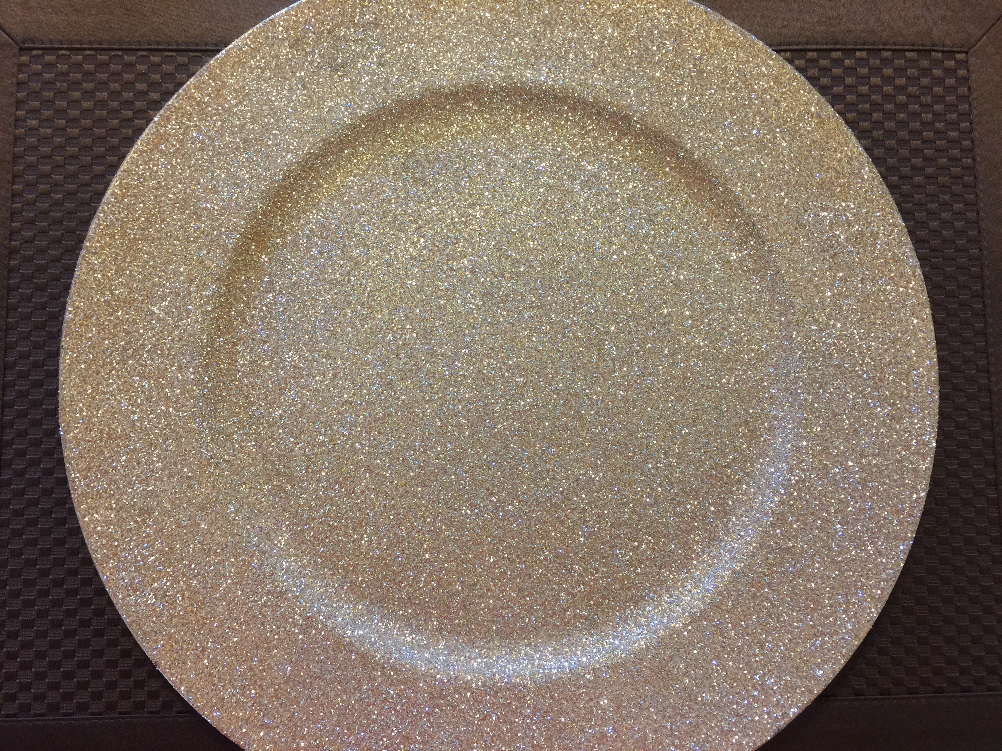 Champagne Gold Glittered Charger Plate Table Settings Amp Co